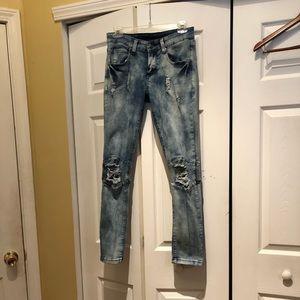 Rue 21 Distressed Skinny Flex Jeans